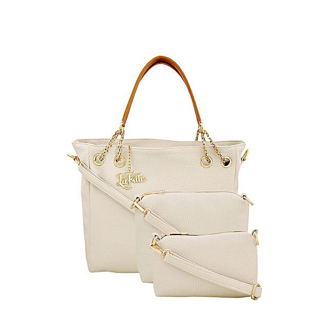 Classy Cream LaFille Handbag Set: Buy Handbags