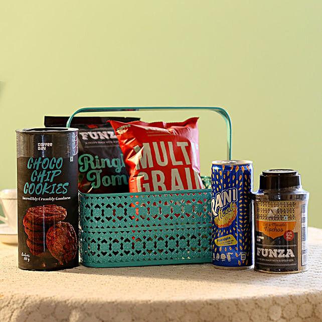 Coffee Day Snack & Pineapple Drink Hamper: Send Gift Hampers