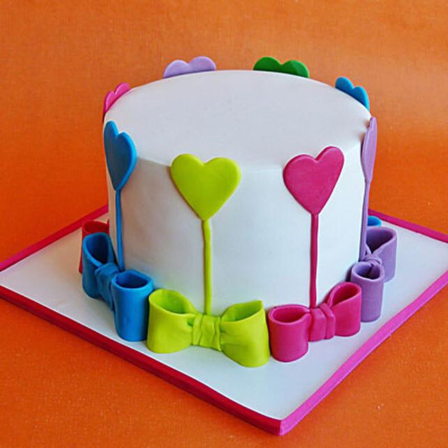 Colors Of Love Cake: Valentines Day Designer Cakes