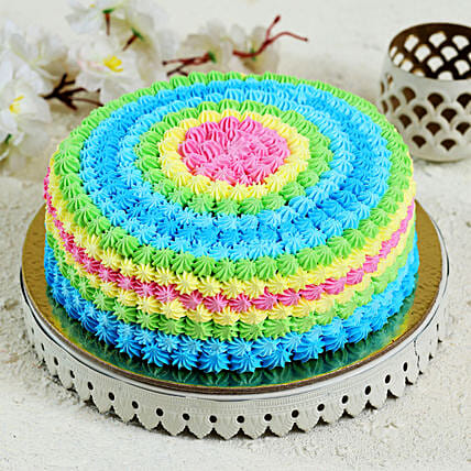 Colourful Cream Cake: Send Vanilla Cakes