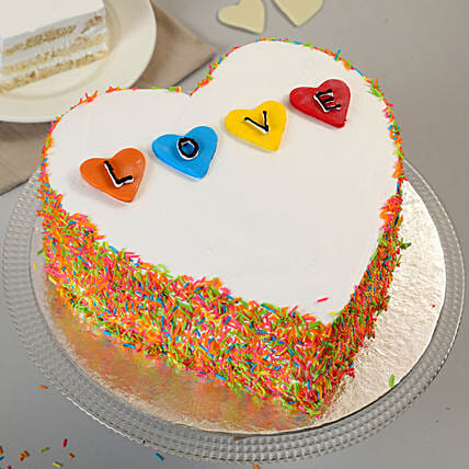 Colourful Love Cake: Send Designer Cakes