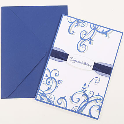 Congratulations Ribbon Greeting Card: Gifts to India