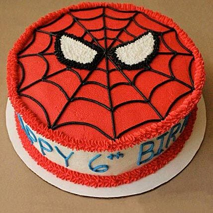 Creamy Spiderman Treat Cake: Spiderman Cakes