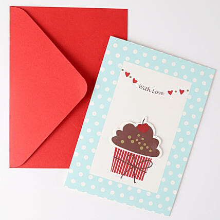 Cupcake Birthday Greeting Card: Hug Day Gifts