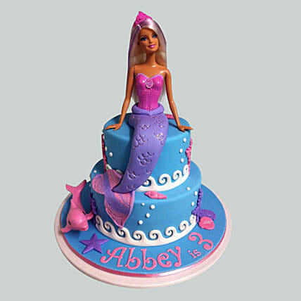 Cute Mermaid Barbie Cake: Gifts for Daughters Day