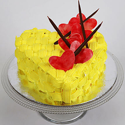 Decorated Hearts Cake: Send Designer Cakes