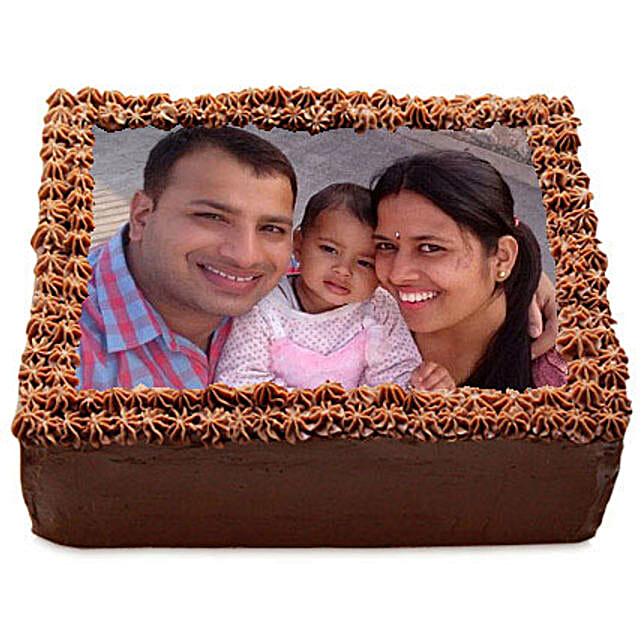 Delicious Chocolate Photo Cake: Premium Personalised Gifts