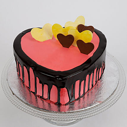 Delicious Hearts Cake: Send Chocolate Cakes