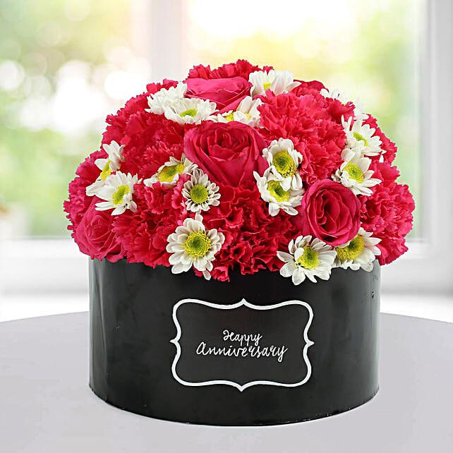 Delightful Floral Arrangement: Send Carnations