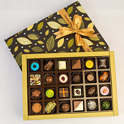 Designer Assorted Chocolates In Beautiful Box- 24 Pcs: Chocolates Shopping India