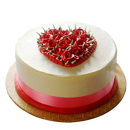 Desirable Rose Cake: Birthday Cakes Bhopal