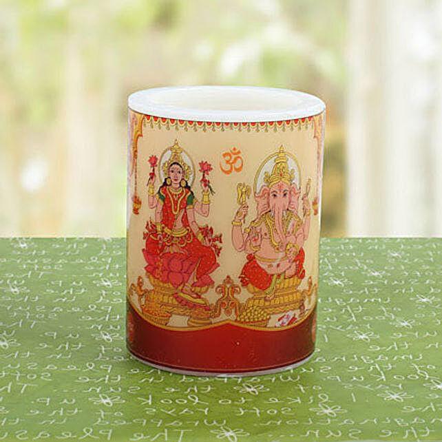 Divine Lakshmi Ganesha Candle: Laxmi Ganesha Idol Gifts