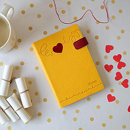 Doodle Heart Beat Personalized Diary: Miss You Gifts