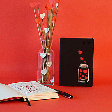 Doodle Love In A Jar Personalized Diary: Personalised Stationary