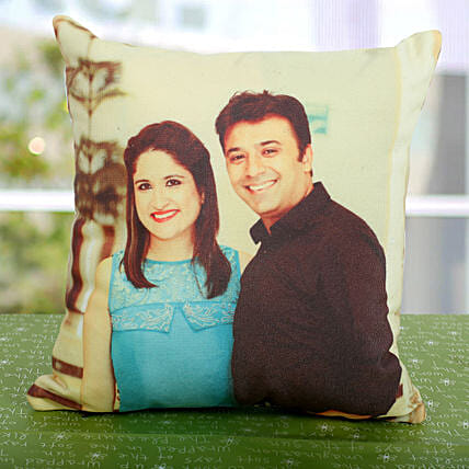 Double Sided Printed Personalized Cushion: Gifts to India