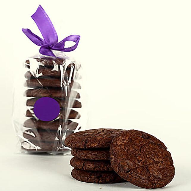 Eggless Fudge Cookie Tin: Send Gourmet Gifts
