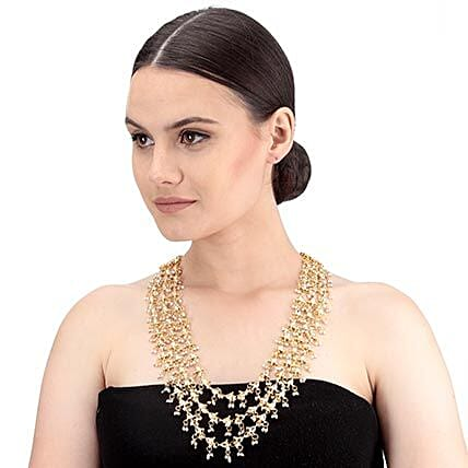 Elaborate Kundan Necklace Gold Color: Jewellery Gifts