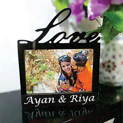 Elegant Love Photo Frame Lamp: Premium Personalised Gifts