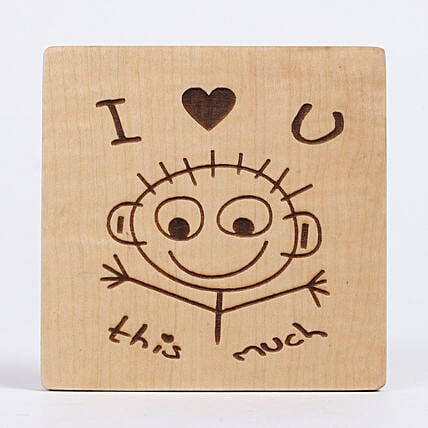 Engraved I Love You Table Top: Table tops Gifts