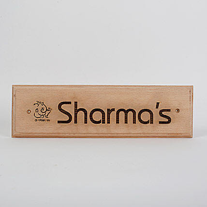 Engraved Wooden Name Plate- 1: Housewarming Gifts