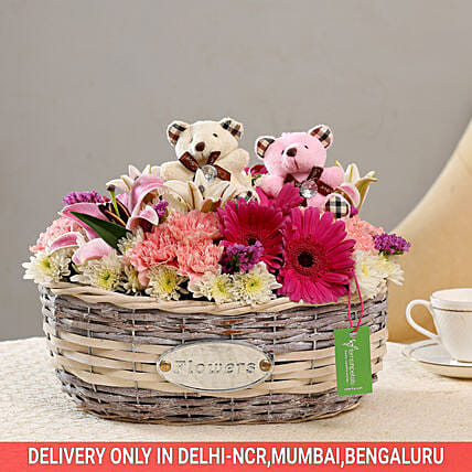 Exotic Flower Basket: Basket Arrangements