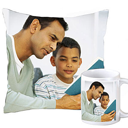 Fathers Day Personalized Combo: Personalised Cushions for Fathers Day
