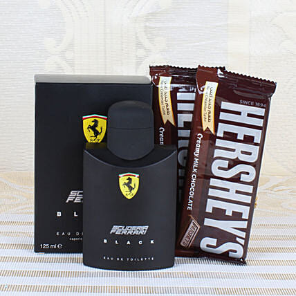Ferrari Black Perfume & Chocolates: