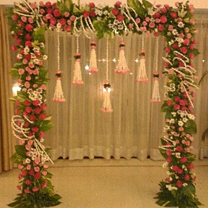 Floral Gateway Hanging Decoration: Mixed Flowers