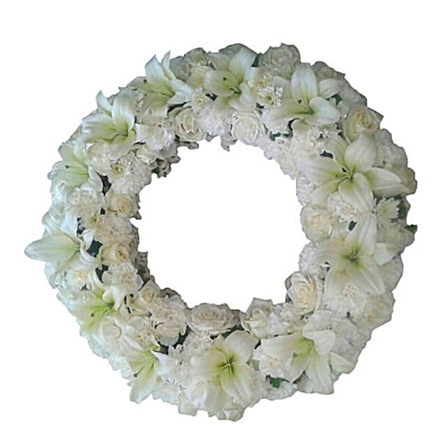 Fresh Flower Wreath: Premium Flowers