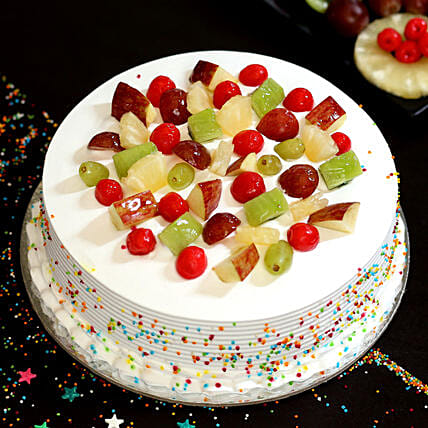 Fresh Fruit Vanilla Cake: Thinking Of You