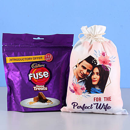 Fuse Home Treats & Personalised Gunny Bag: