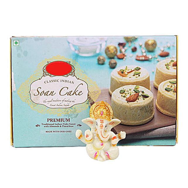 Ganesha Idol With Soan Cake: Sweets to Dehradun