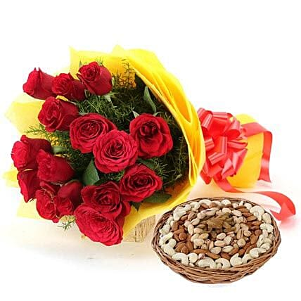 Gift Sensations: Fathers Day Flowers & Dryfruits