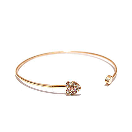 Gold Heart Bracelet: Send Jewellery Gifts