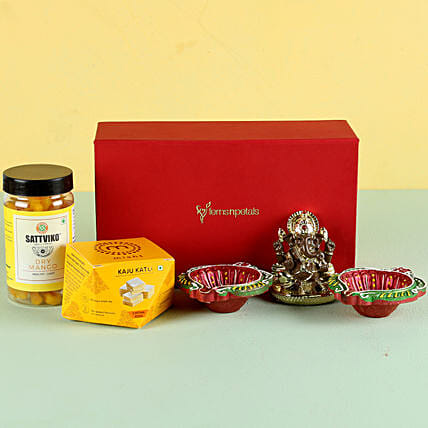 Gold Plated Ganesha & Delicious Festive Treats: Buy Sweets