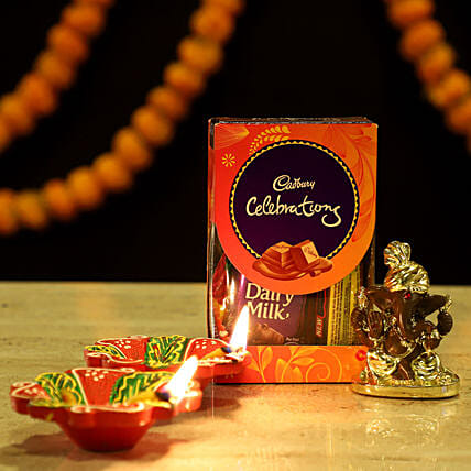 Gold Plated Ganesha Festive Hamper: