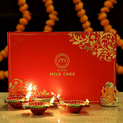 Gold Plated Ganesha Festive Treats: Sweets Delivery