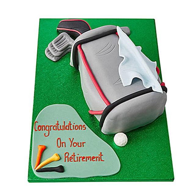 Golf Bag Fondant Cake: Send Designer Cakes