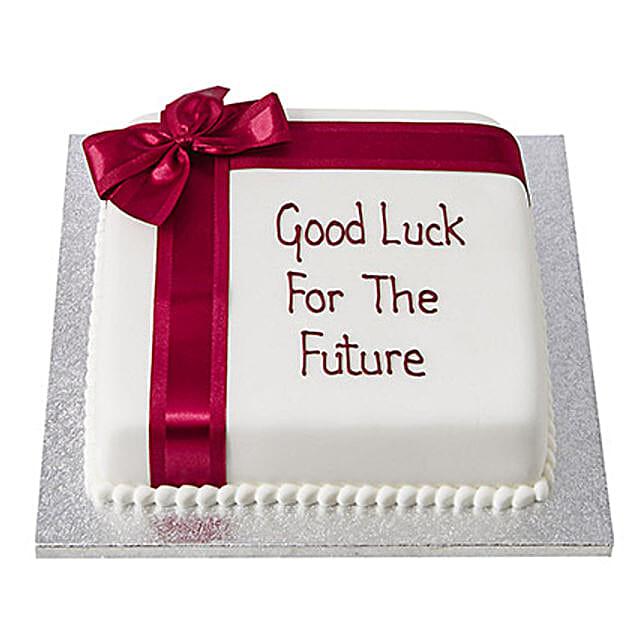 Good Luck Fondant Cake: Butter Scotch Cakes