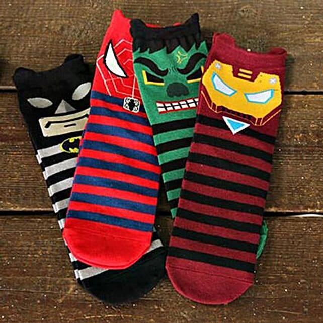 Grumpy Superhero Full Length Socks 5 Pairs: Unusual Gifts