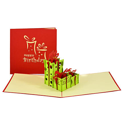 Handmade 3D Pop Up Gift Boxes Card: Buy Greeting Cards