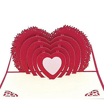 Handmade 3D Pop Up Heart Greeting Card: Greeting Cards