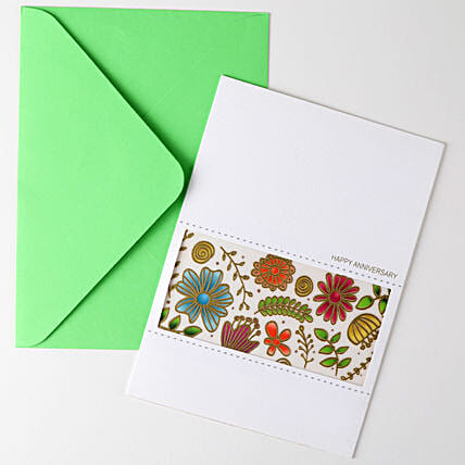 Happy Anniversary Floral Greeting Card: Hug Day Gifts