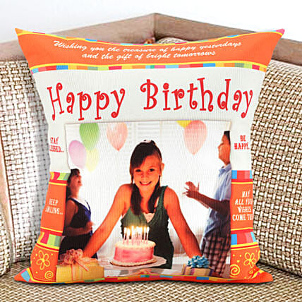 Happy Bday Personalized Cushion Birthday Gifts For Girls
