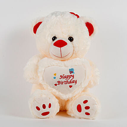 Happy Birthday Teddy Bear Cream: Soft Toys Gifts
