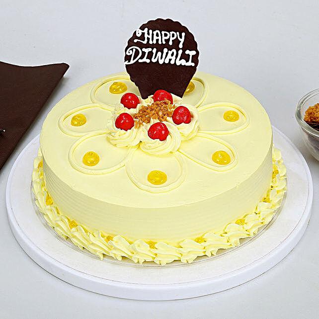 Happy Diwali Butterscotch Cake: Send Diwali Cakes