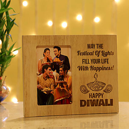 Happy Diwali Personalised Photo Frame: Personalised Photo Frames