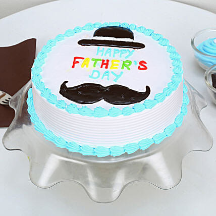 Hat And Moustache Fathers Day Cake: Butter Scotch Cakes