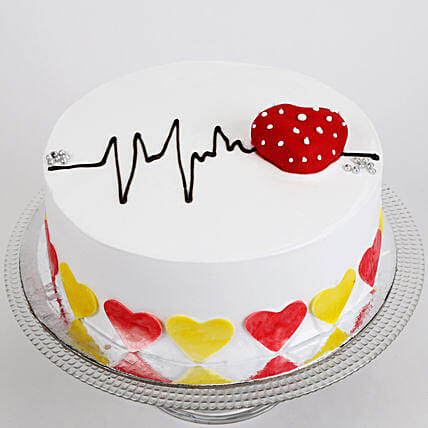 Heart Beat Cake Send Designer Cakes