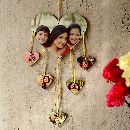 Heartshaped Personalized Wall Hanging: Send Personalised Gifts to Guntur